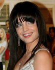 Mena Suvari with long black hair
