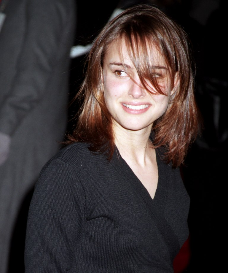 Natalie Portman With Shimmering Medium Long Brown Hair