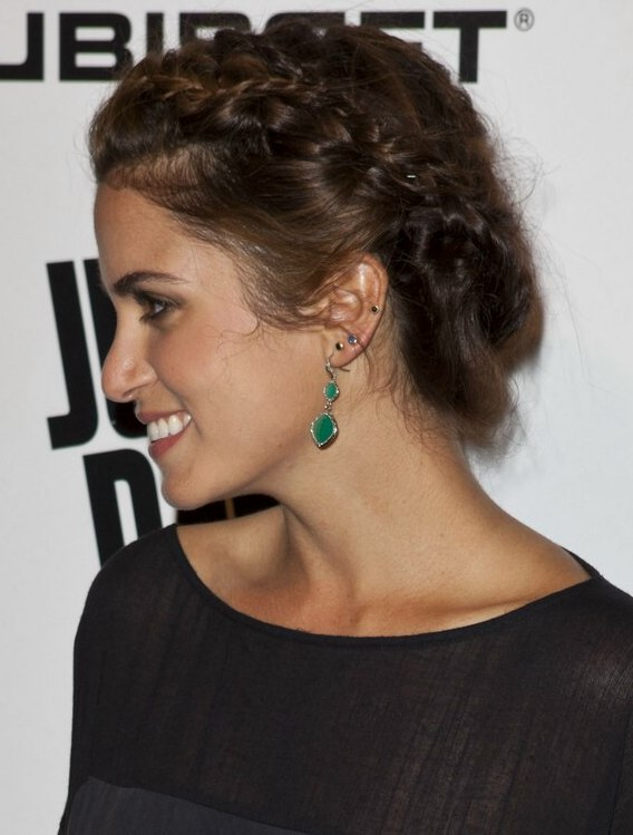 Nikki Reed Braided Up Style That Creates The Illusion Of