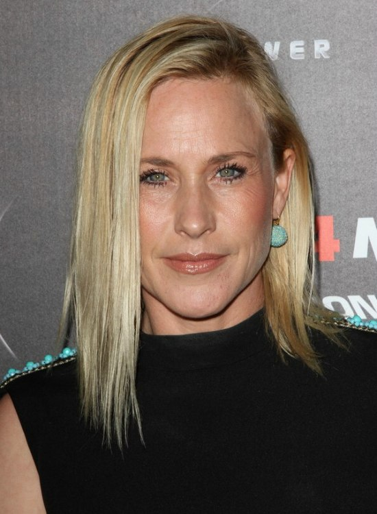 Patricia Arquette With Long Straightened Hair Tucked