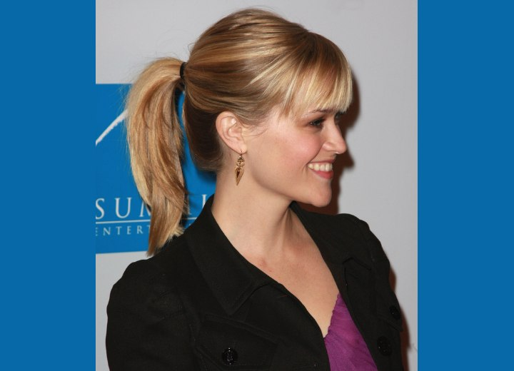 high ponytail hairstyles. young ponytail