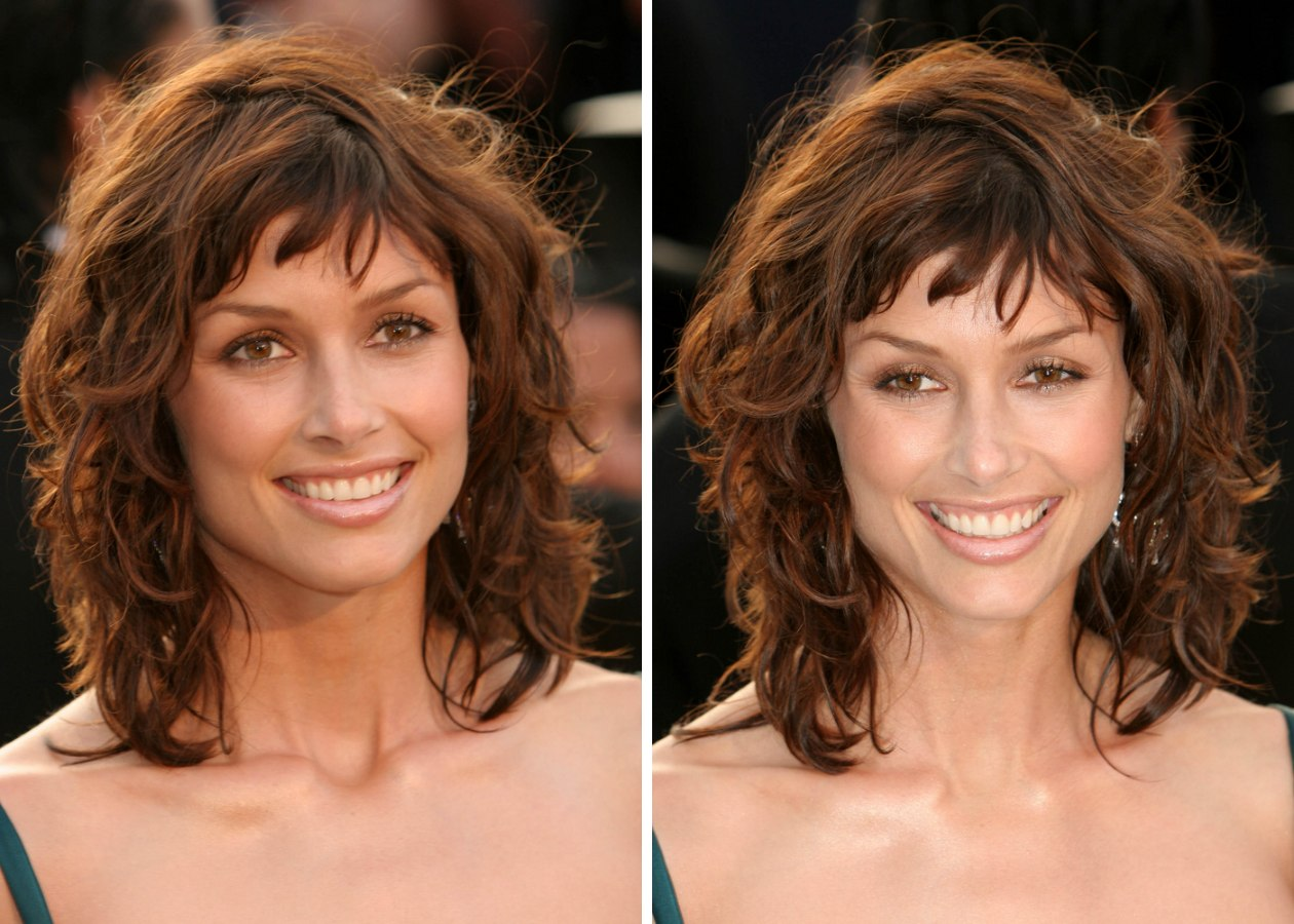 Stupendous Bridget Moynahan With Hair In Textured Shag Layers And Choppy Bangs Short Hairstyles Gunalazisus