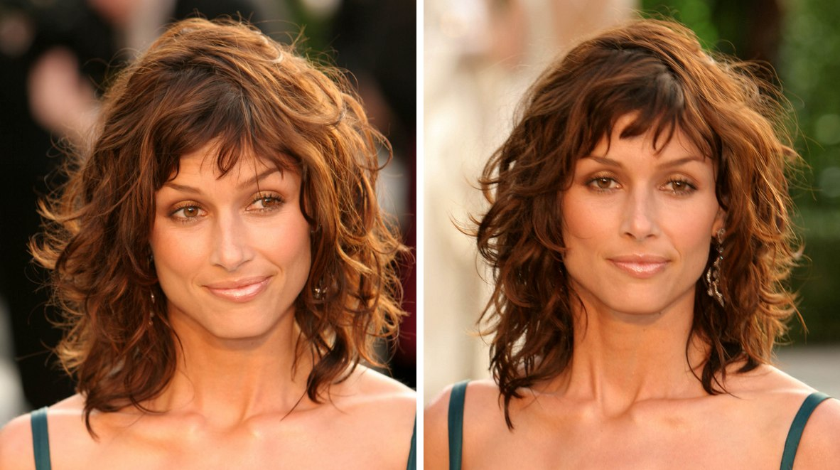 How To Cut And Style Bridget Moynahan S Choppy Haircut