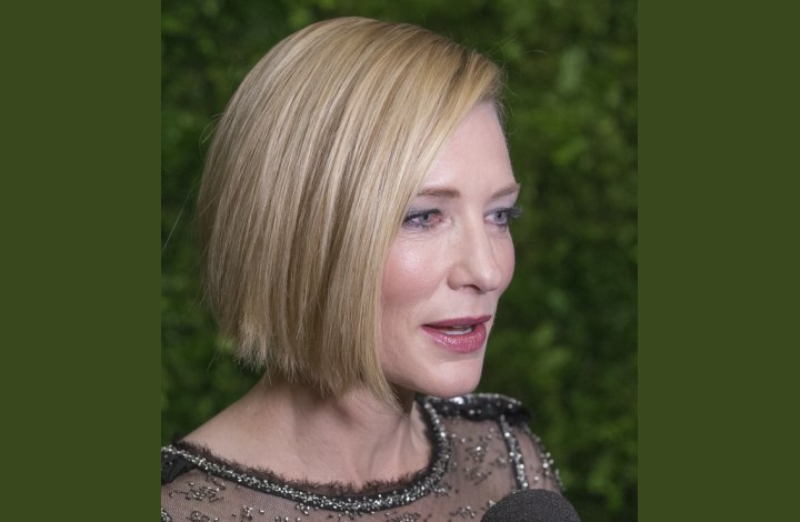 Fake Bob And A Wavy Side Parted Bob Cate Blanchett Jennifer Lawrence