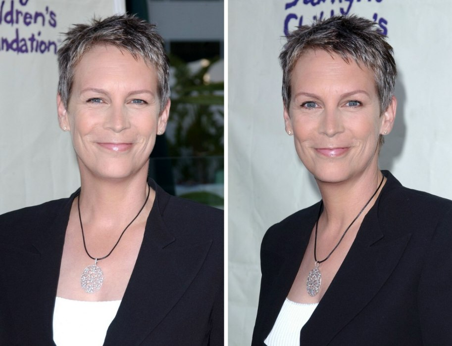 The short wash and wear hairstyle of Jamie Lee Curtis for women ...