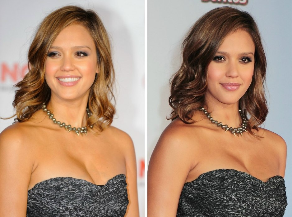 How To Cut Hair To Imitate Jessica Alba S Shoulder Length Layered Haircut