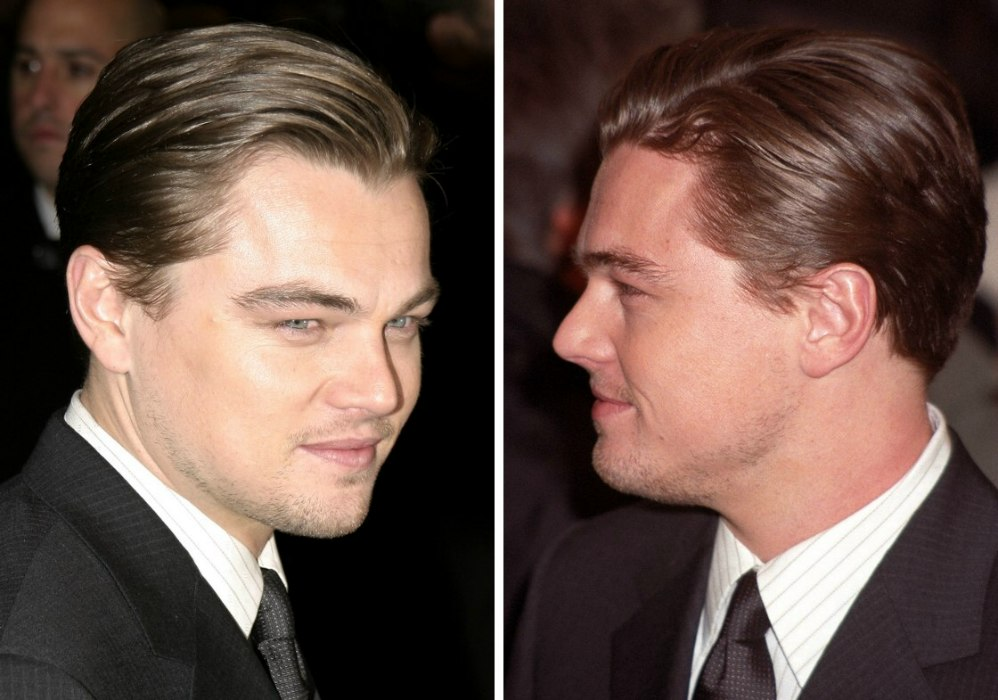 Leonardo Dicaprio Sporting A Slicked Back Suave Look Hairstyle