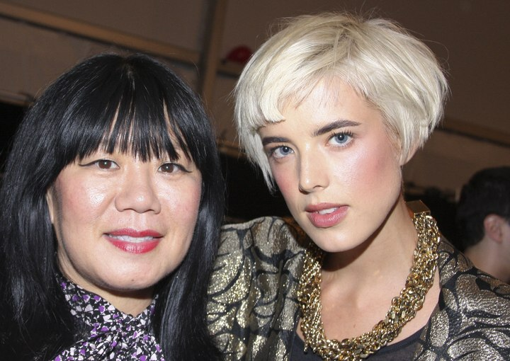 Astounding Agyness Deyn With Nice And Short Hair And Mary Elizabeth Ellis Short Hairstyles Gunalazisus