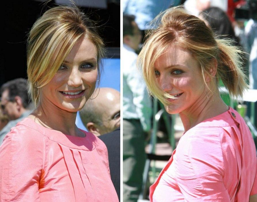 Paris Hilton Cameron Diaz Foiled Streaks And Pony Tail