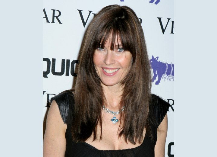 Carol Alt with textured long hair
