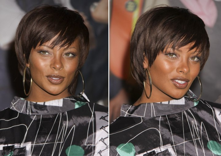 Eva Marcille Short Haircut With Length Over The Neckline