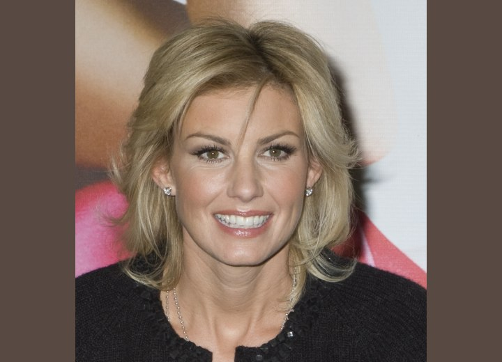 faith hill hair styles witt s hair with bangs below the brows and 9853 | faith hill