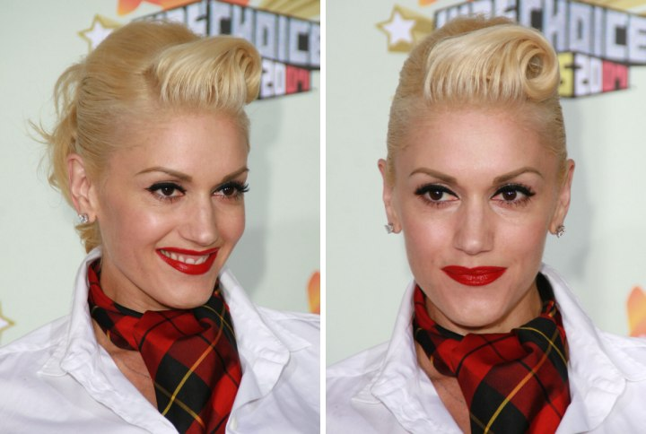 Gwen stefani rihanna hair cut high up in the back and a gwen stefani fifties and sixties hairstyle for blonde hair pmusecretfo Choice Image