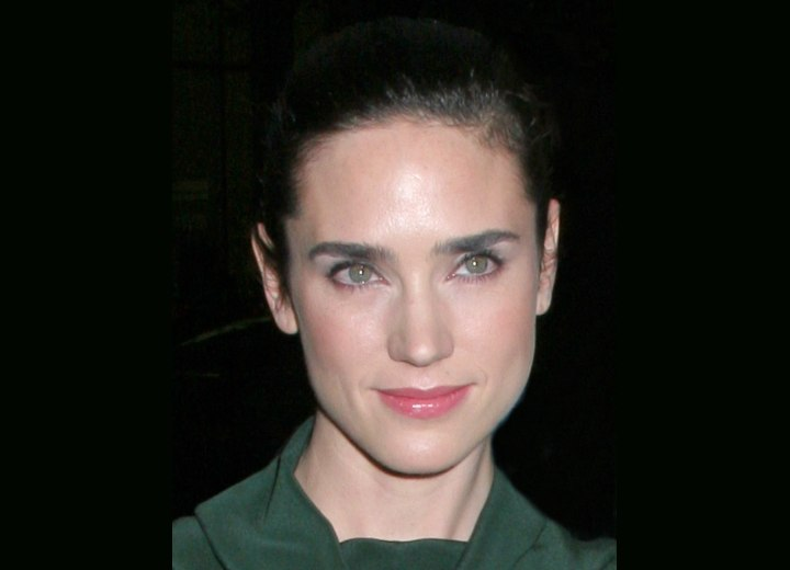 Jennifer Connelly wearing her hair pulled back