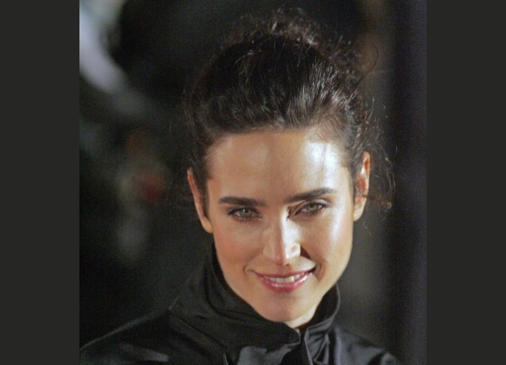 Jennifer Connelly with her hair up