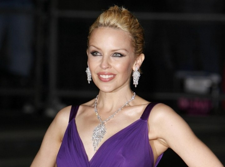 Kylie Minogue with duo toned hair