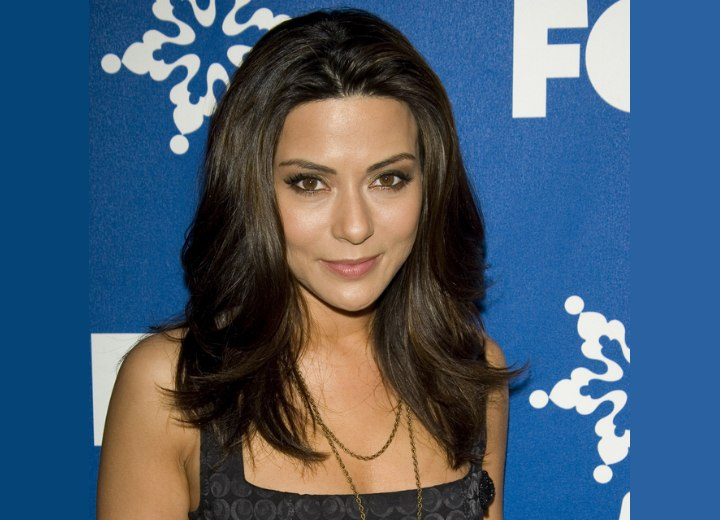Marisol Nichols wearing her hair long with volume