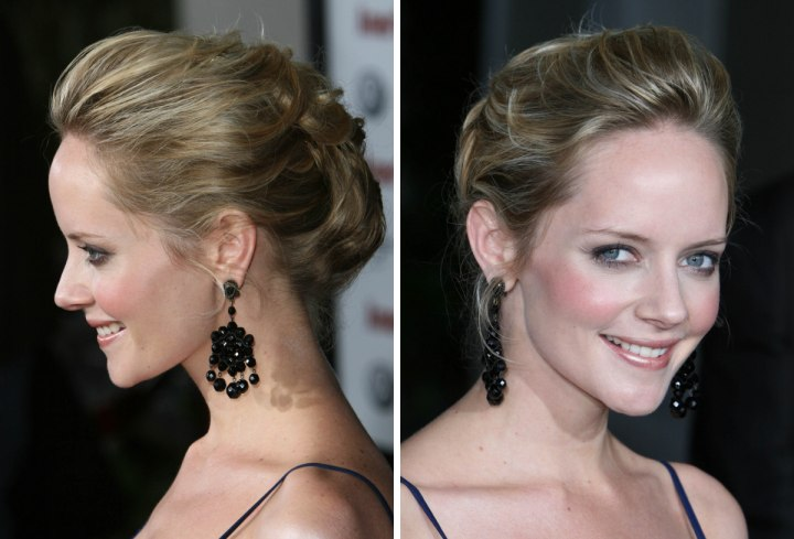 Marley Shelton's hair up style - Side view