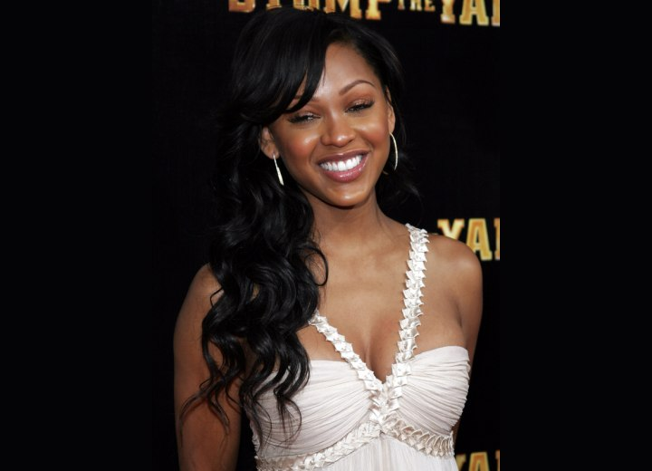 Meagan Good - Long hairstyle for black hair
