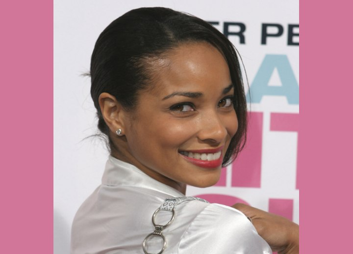 Side view of Rochelle Aytes hairstyle