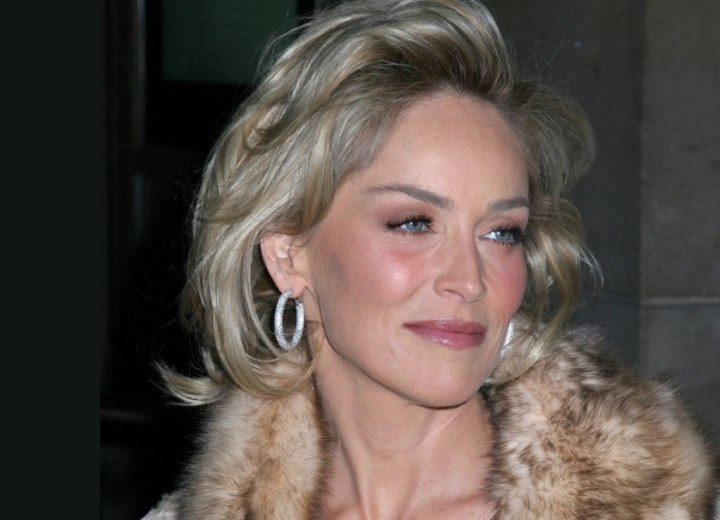 sharon stone hairstyle. More Sharon Stone Hairstyles