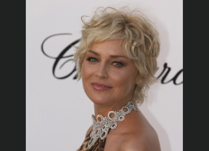 Sharon Stone | Taylor Momsen | Ruffled shag haircut and a smooth jag ...