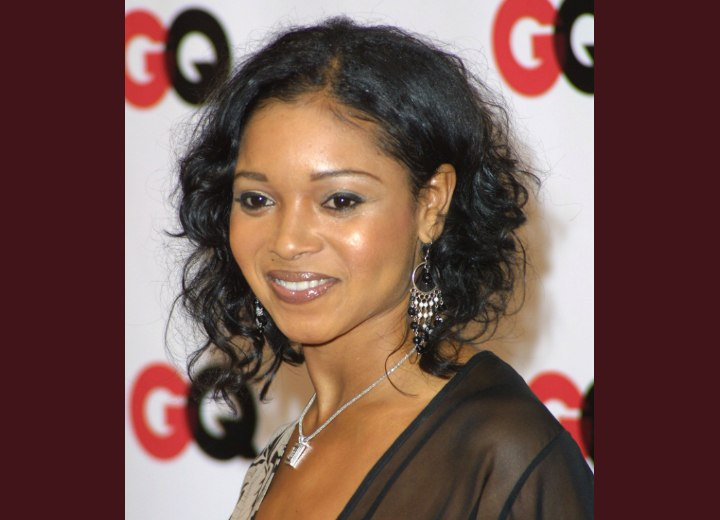 Tamala Jones hairstyle with curls
