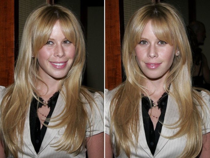 Tara Lipinski With Waves And With Straight Hair That Makes Her Appear