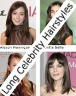 straight long celebrity hairstyles