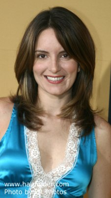 photo of Tina Fey with her hair straightened