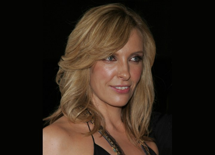 Toni Collette with long layered hair
