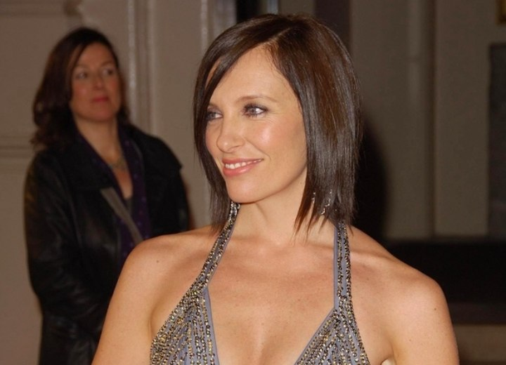 Toni Collette with straight bobbed hair