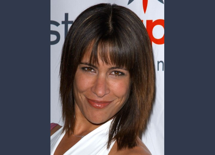 Vanessa Parise - Medium length shag haircut