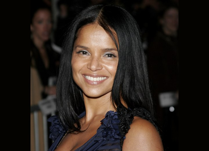 Victoria Rowell with long straight hair