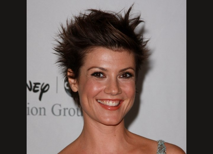 Zoe McLellan takes off the limit with her wild and crazy hairstyle!