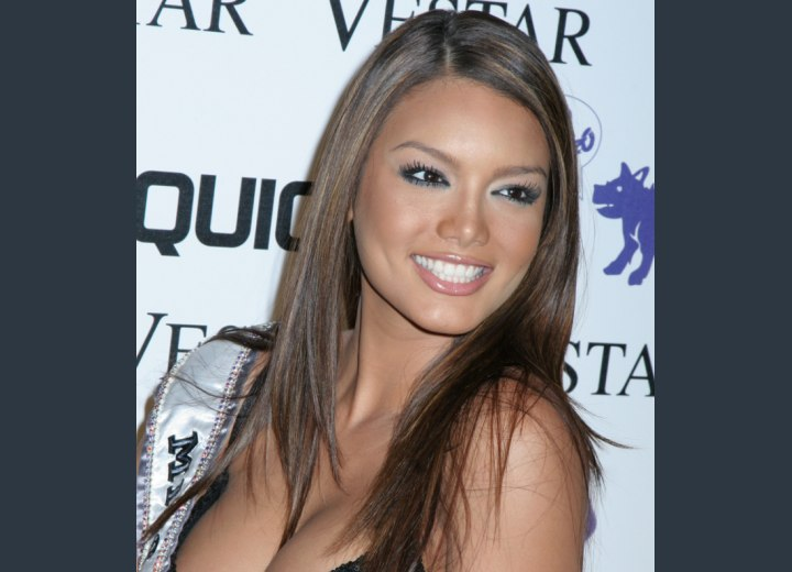 Zuleyka Rivera with exotic long hair