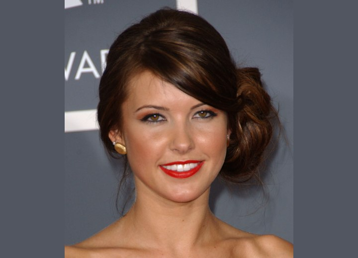 Audrina Patridge has gorgeous reddish brown hair that has slices of gold and