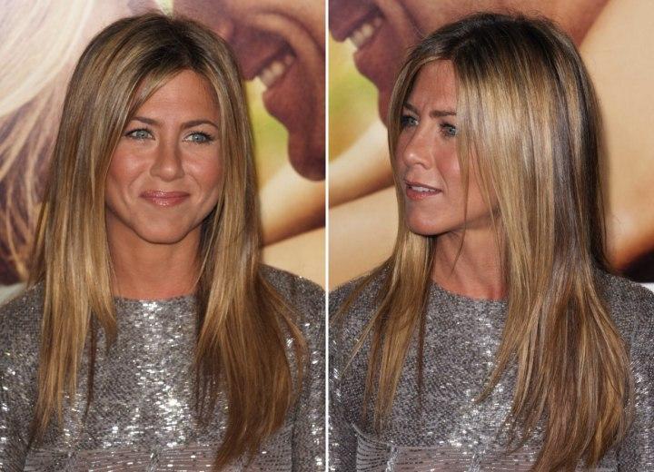 Jennifer aniston s long hairstyle