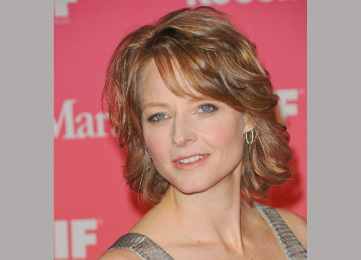 Tremendous Jodie Fosters Neck Collar Cuffing Hairstyle And Crystal Allens Short Hairstyles For Black Women Fulllsitofus