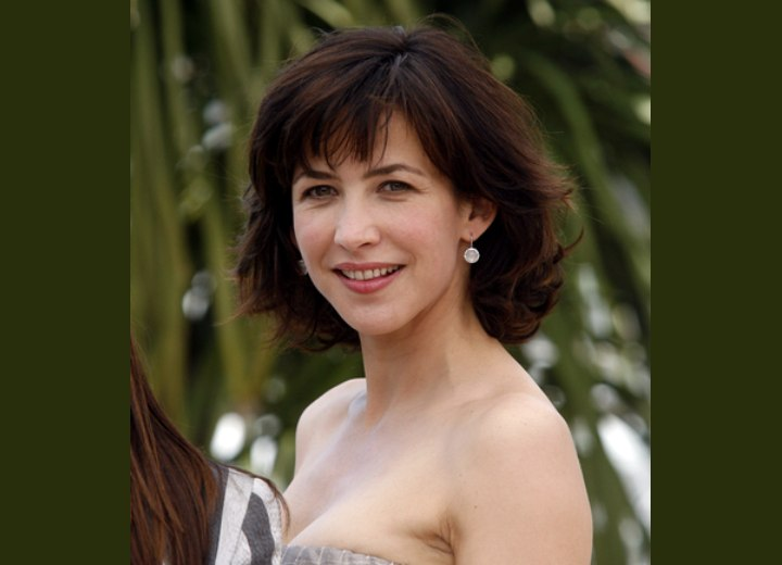 Sophie Marceau S Haircut With Layers Flipping Up And