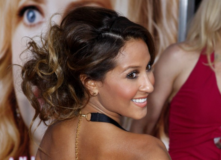 Adrienne Bailon - Side view of her updo
