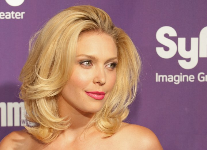 Hair with a mixture of blondes and browns - Alaina Huffman