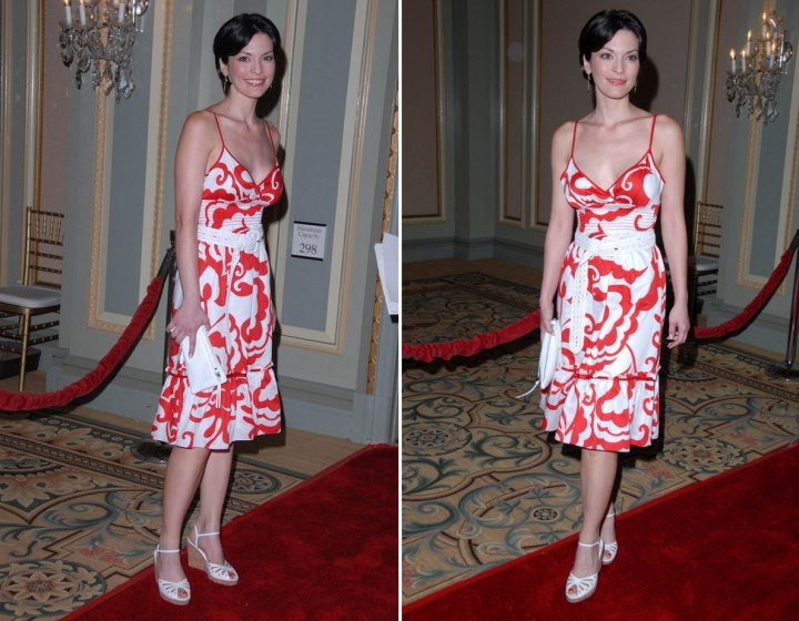 Red and white dress - Alana de la Garza