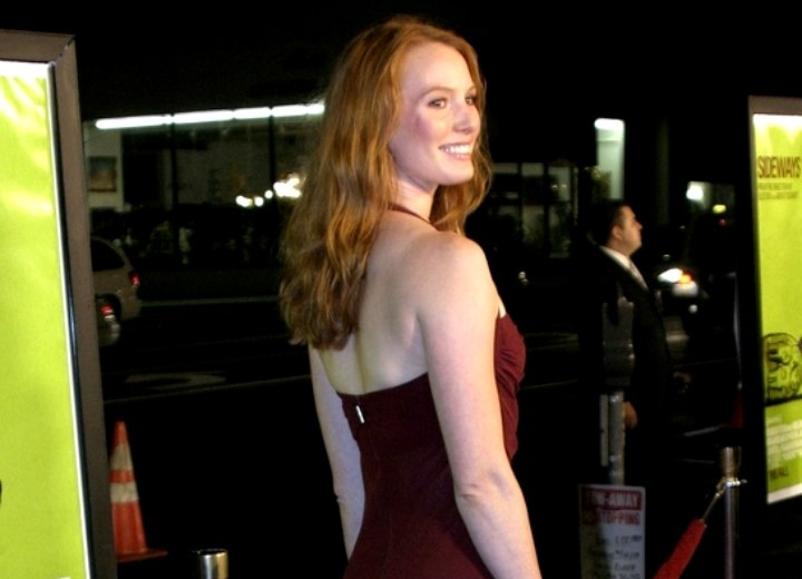 Back view of Alicia Witt's long hair
