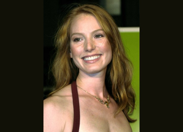 Alicia Witt's long hairstyle