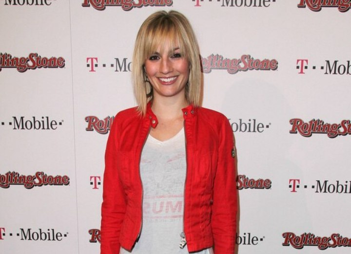 Alison Haislip look with a red jacket