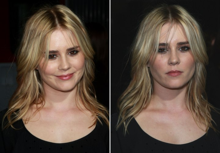 Short Layered Hairstyle Very Long Layered Hairstyle Alison Lohman with a casual long hairstyle