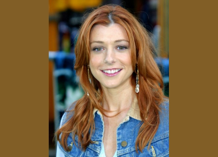Alyson Hannigan's long wash and go hairstyle