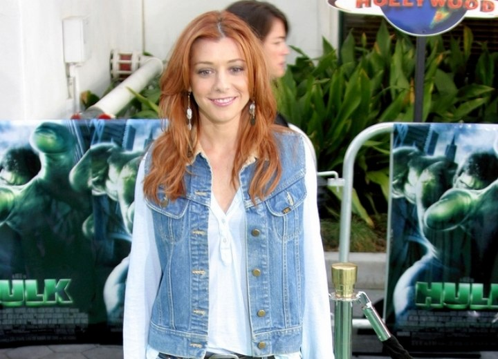 Alyson Hannigan's wearing denim