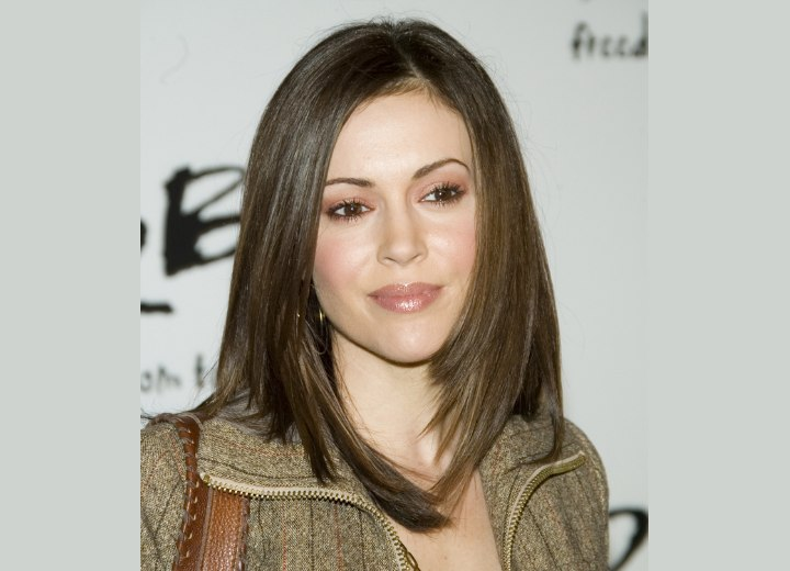 Alyssa Milano with shoulderlength hair